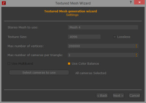 Textured mesh generation