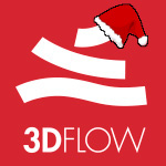 3Dflow logo christmas