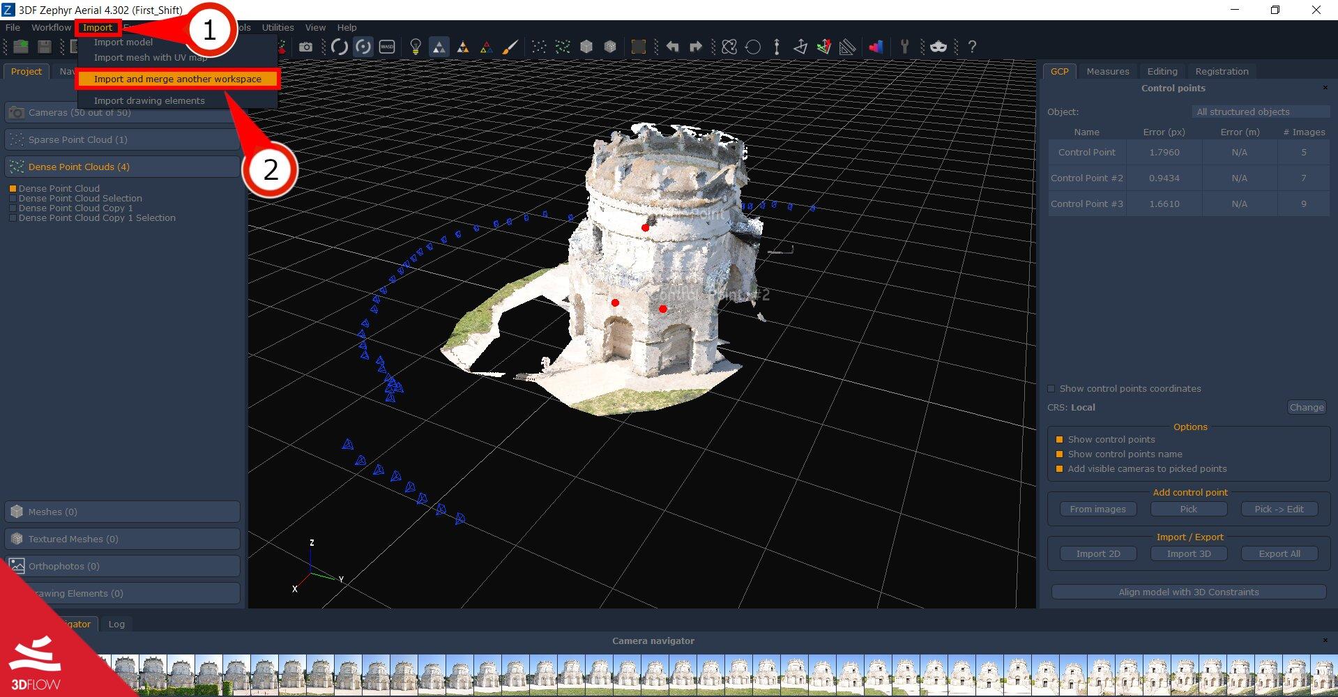 Tutorial #A03 : Workspace merge - 3Dflow