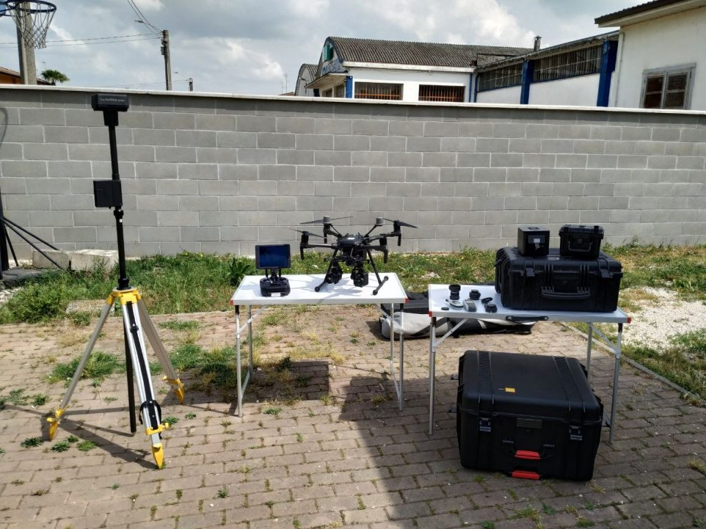 Fig. 2. Equipment used for the survey. © DL Droni Srl