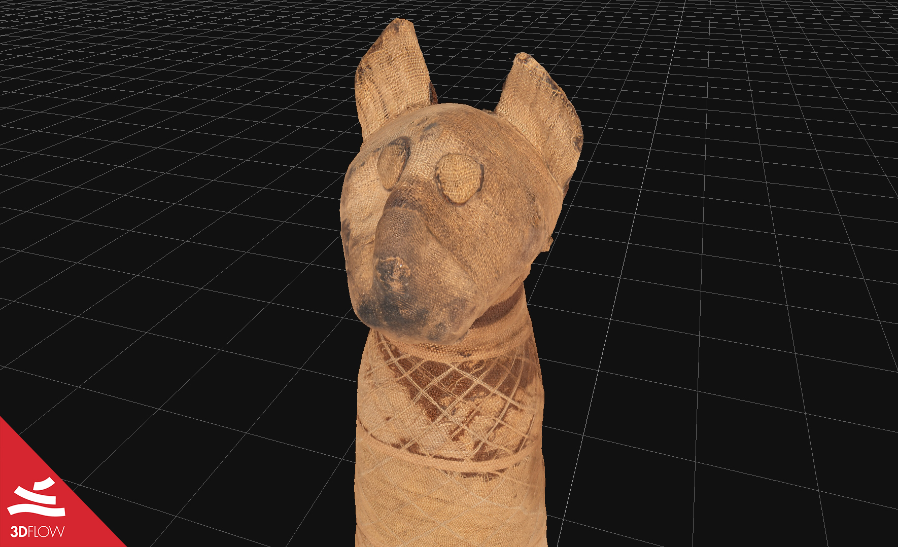 mummy_cat_textured_mesh_closeup