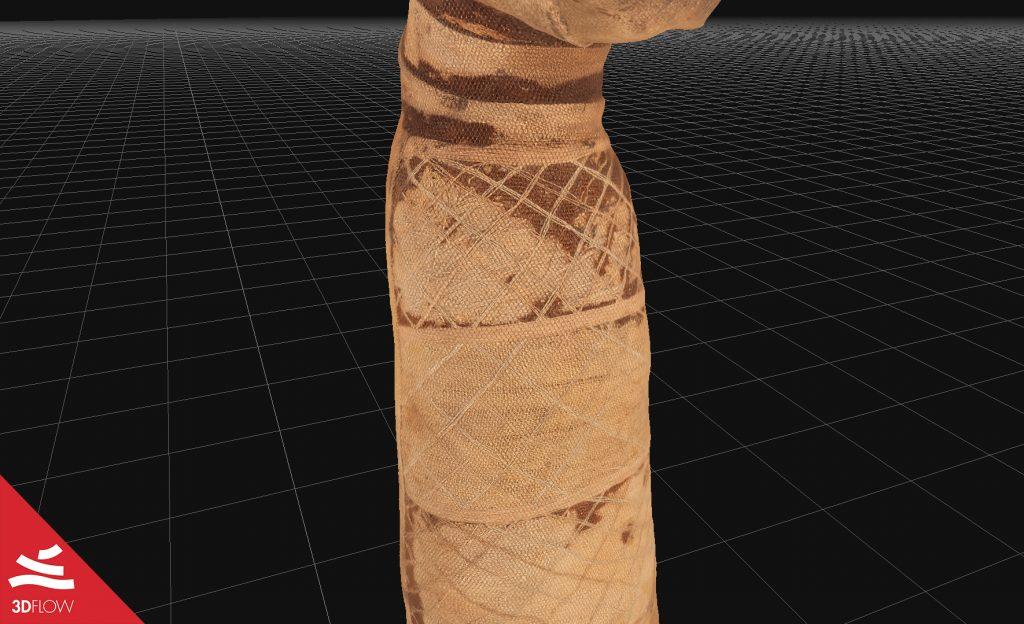 Fig. 2. Mesh con texture, particolare. © Museo Egizio di Torino
