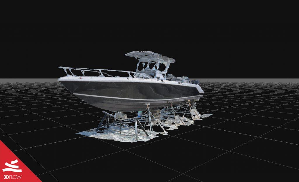 Fig. 2. Mesh con texture dello yacht. © Edgar Tovar