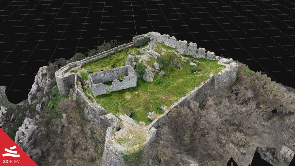 Fig. 3. Textured mesh (only photogrammetry) of the fortress. © Giovanni Pancani – DIDA UniFI