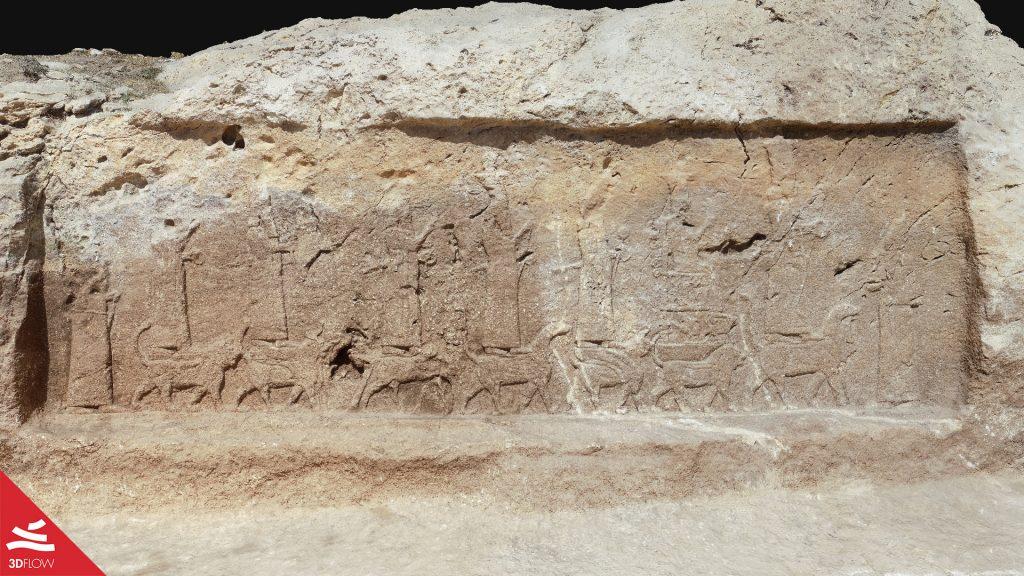 """Textured mesh of bas-relief """"R4"""". ©Alberto Savioli – DIUM, UniUD."""