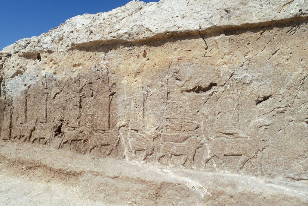 """Fig. 1. Picture of bas-relief """"R4"""", close-up. ©Alberto Savioli – DIUM, UniUD."""